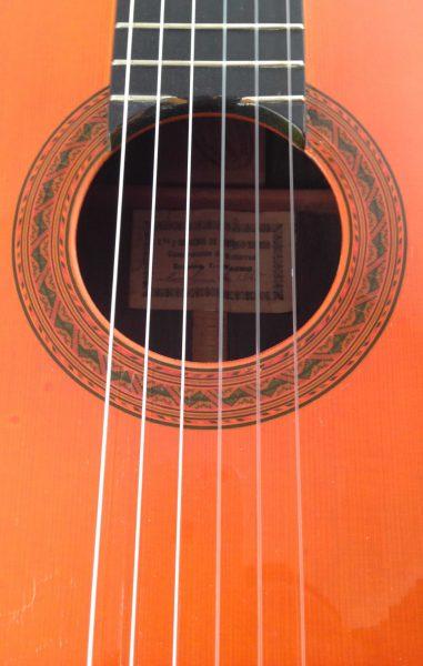 Guitarra esteso 1945 roseta