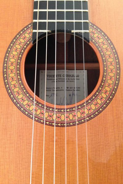 Guitarra clasica Vicente Carrillo 1995 roseta