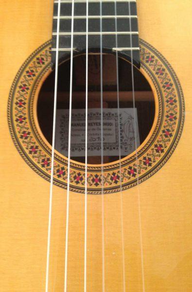 Guitarra flamenca Manuel Reyes hijo 2010 roseta