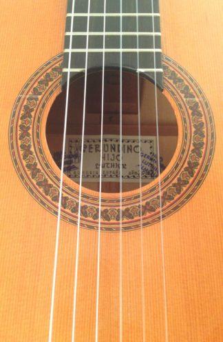 Guitarra flamenca Gerundino hijo 2016 roseta