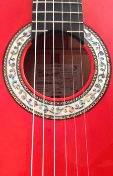 Guitarra flamenca Hnos Sanchis López centenario 2015 roseta
